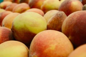 Bushel of peaches to help gluten free eaters get enough fibre.
